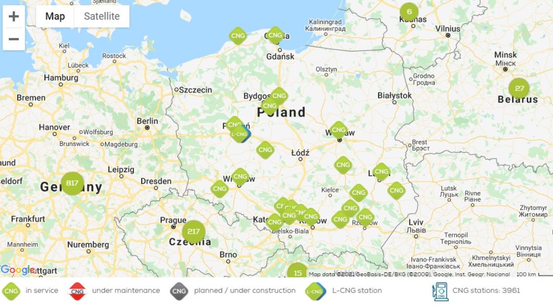 Stacje CNG w Polsce